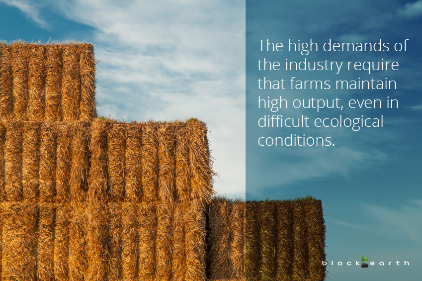 humic material soil structure decline